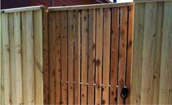 Vertical Slat Sing Swing Gate Bonbeach