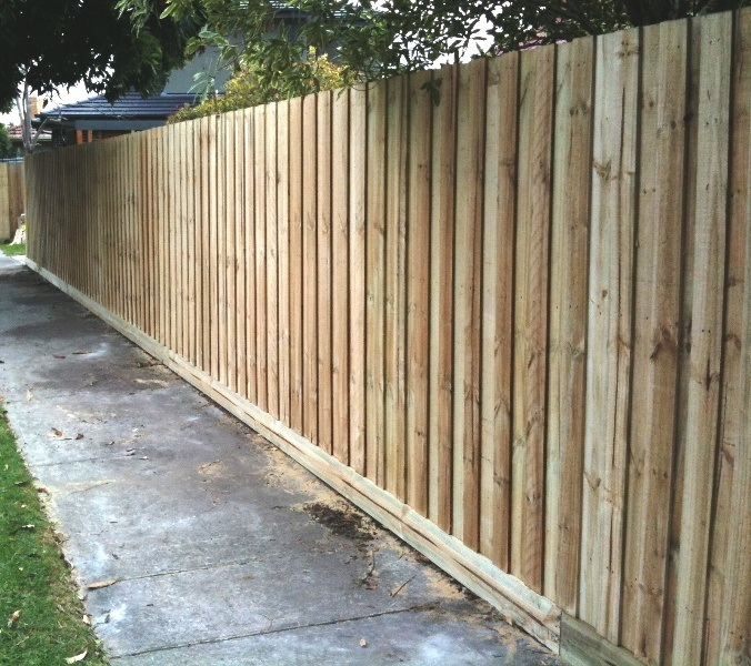 Standard Paling Fence before painting