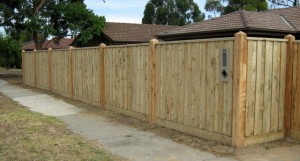 Paling Fence with Capping Seaford